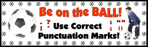 Free Bulletin Board Display Banner For Punctuation Lesson Plans