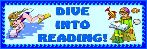 Free Dive Into Reading Bulletin Board Display Banner