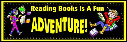 Free Reading Bulletin Board Display Banner: Reading Books is Fun!