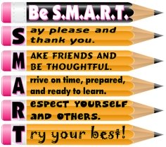 Free Be S.M.A.R.T. Classroom Rules Bulletin Board Display