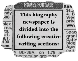 Nonfiction Biography Book Report Creative Writing Topics