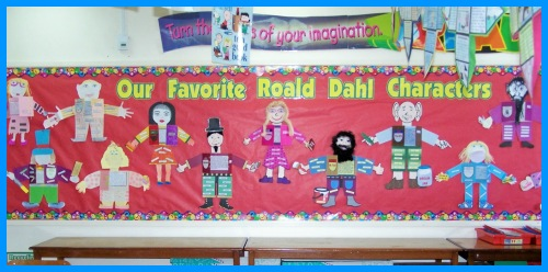 Roald Dahl Main Character Book Report Projects Bulletin Board Display