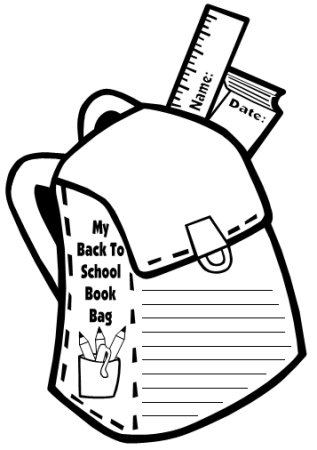 Book Bag and Back Pack Fun Student Creative Writing Projects
