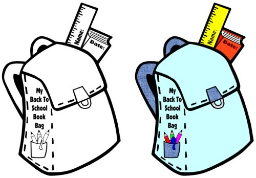 Back to School Teaching Resources Book Bag and Backpacks Templates