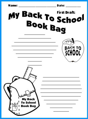 Back To School Printable Worksheets Student Bookbags