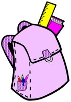 Back to School Student Book Bag Writing Templates Purple