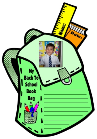 Fun Elementary Student Book Bag and Back Pack Creative Writing Projects