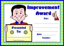Boy Student Improvement Award