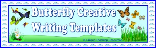 Butterfly Creative Writing Templates and Fun Projects For Elementary School Students