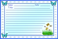 Butterfly Creative Writing Printable Worksheet