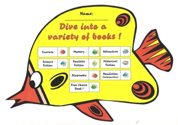 Fish Reading Sticker Charts Dive Into Reading Program