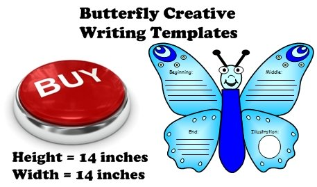 Butterfly Shaped Creative Writing Templates, Graphic Organizers, and Fun Projects For Students
