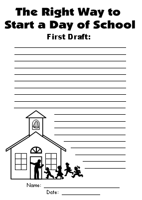 Byrd Baylor First Draft Creative Writing Worksheet Way To Start a Day