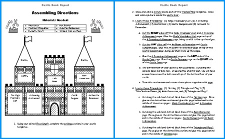 Castle Book Report Projects Student Directions Worksheet