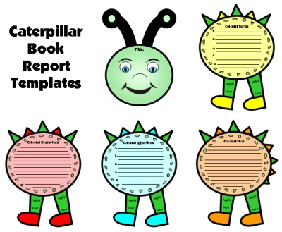 Spring Caterpillar Fun Book Report Projects and Templates