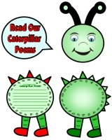 Caterpillar Poems and Poetry Templates