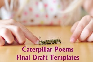 Caterpillar Shaped Creative Writing Templates for Poetry
