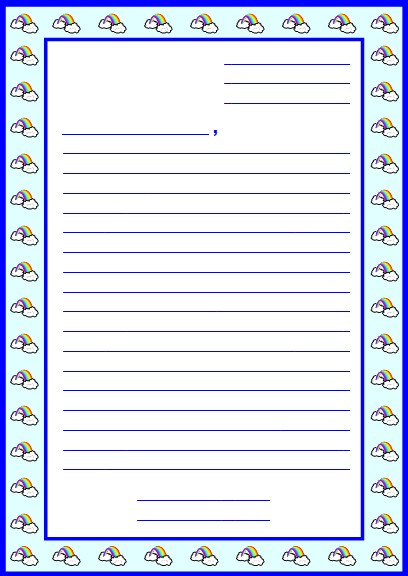 Letter Writing Printable Worksheets