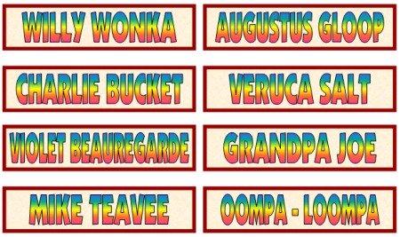 Willy Wonka, Charlie Bucket, Augustus Gloop, Veruca Salt, Mike Teevee, Violet Beauregarde Characters and Fun Ideas for Projects