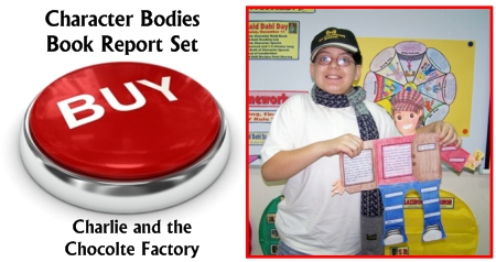Buy Charlie and the Chocolate Factory Main Character Body Book Report Projects Now