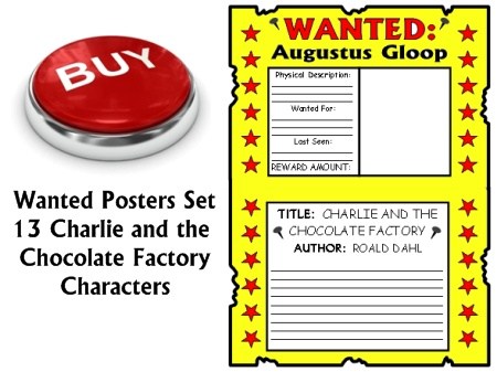 Buy Charlie and the Chocolate Factory Wanted Posters Projects Now