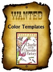 Charlie and the Chocolate Factory Color Project Templates for Wanted Posters