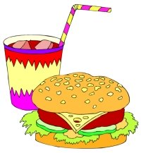 Cheeseburger and Drink