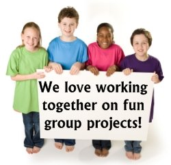 Elementary School Students Fun Group Projects