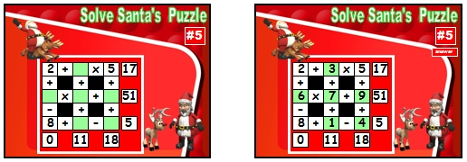 Powerpoint Lesson Plans and Presentation for Math Puzzles at Christmas