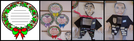 A Christmas Carol Author Charles Dickens Fun Scrooge and Wreath Projects