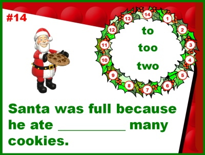 Christmas Powerpoint Presentations Parts of Speech Homophones Lesson Plans Review
