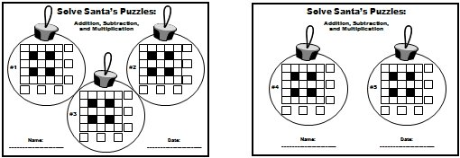 Christmas Math Powerpoint Puzzles Printable Student Worksheets