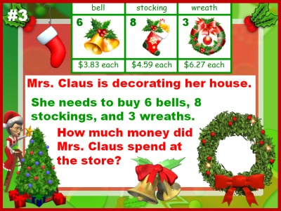 Christmas Math Word Problems Santa Powerpoint Presentation