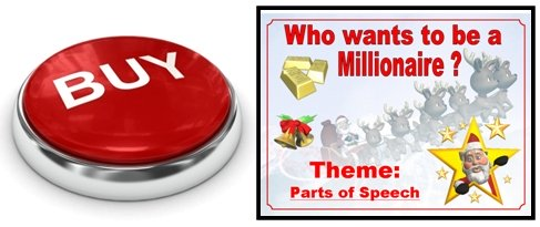 Christmas Powerpoint Presentation Game For Reviewing Nouns, Verbs, Adjectives, and Adverbs