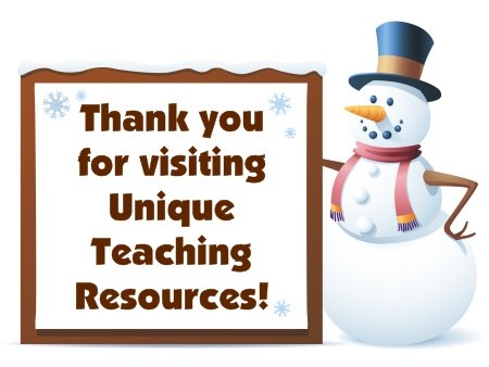 Christmas and Winter Teaching Resources for Elementary School Teachers