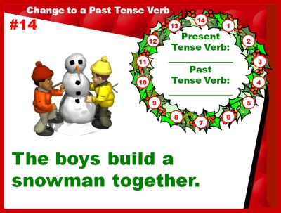 Christmas Verbs Powerpoint Presentation Game Activities