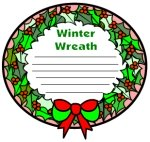 Christmas Wreath Creative Writing Templates