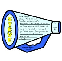 Interview a Classmater Fun Megaphone Templates