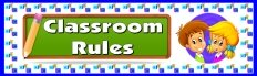 Classroom Rules Bulletin Board Display Banner