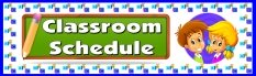 Classroom Scedule Bulletin Board Display Banner