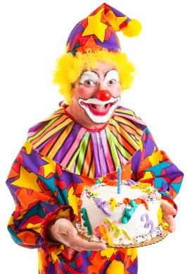 Clown With Birthday Cake