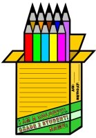 Pencil Crayon Box Shaped Creative Writing Templates