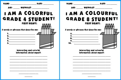 School Worksheets 5th Grade : First day of school worksheets for th graders back to