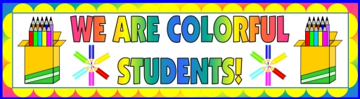 Colorful Creative Writing Pencils Bulletin Board Display Banner