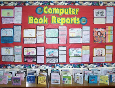 Computer Shaped Book Report Projects and Templates