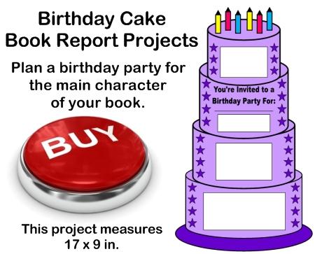Creative Book Report Project Ideas - Birthday Cake Templates