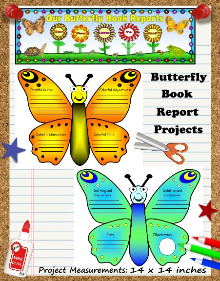 Creative Book Report Project Ideas - Butterfly Templates