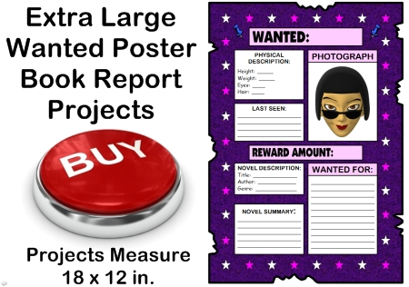 Creative Book Report Project Ideas - Wanted Poster Templates