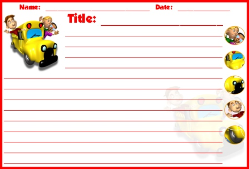 Back to School Bus Creative Writing Templates and Worksheets