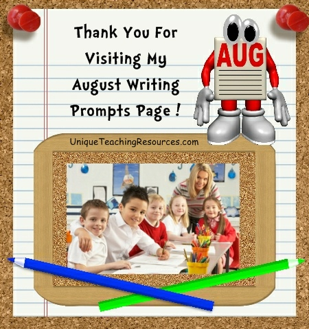 Creative Writing Prompts and Journal Ideas Back to School and August